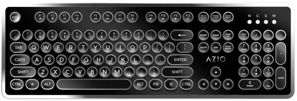 MK-Retro typewriter-inspired mechanical keyboard by Azio
