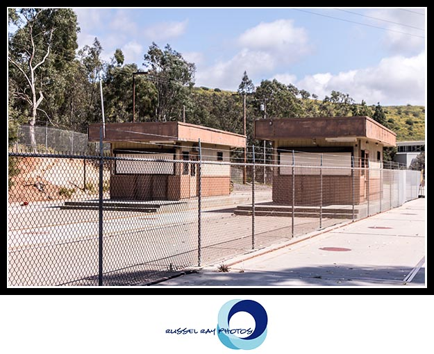 Dead sewage treatment plant in San Elijo Hills, San Diego County, California