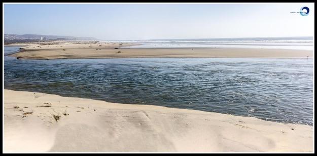 Tijuana River meeting the Pacific Ocean