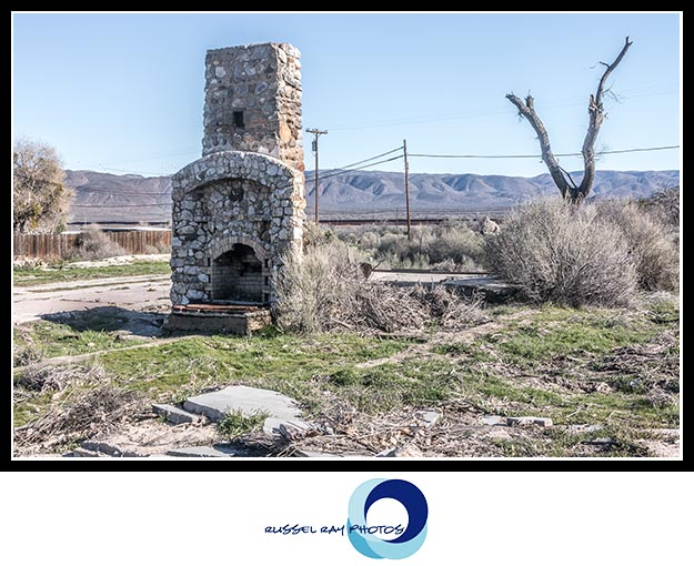 Dead chimney of the Hotel Vaughn in Jacumba Hot Springs, California