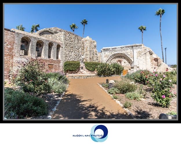 Ruins of the Great Stone Church at Mission San Juan Capistrano, California