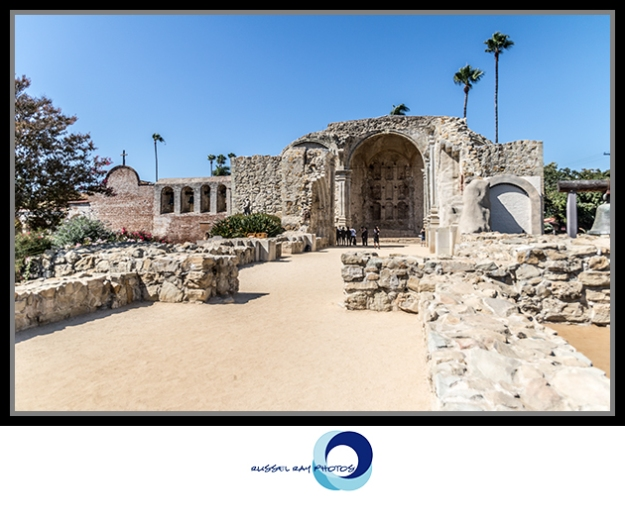 Ruins of the Great Stone Church at Mission San Juan Capistrano, California