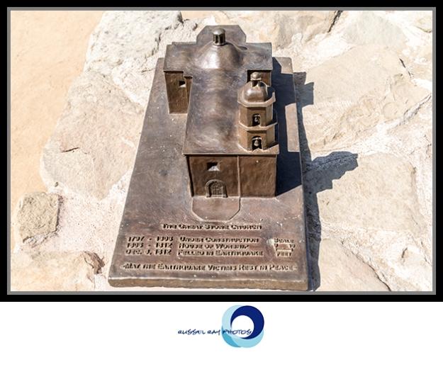 Great Stone Church model at Mission San Juan Capistrano