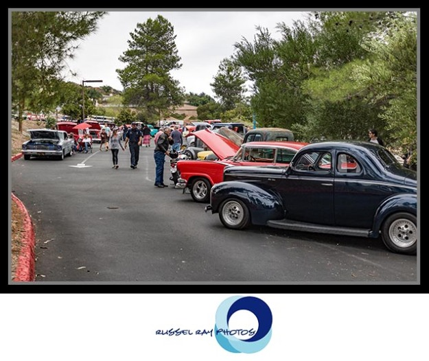 Classic car show in Alpine, California