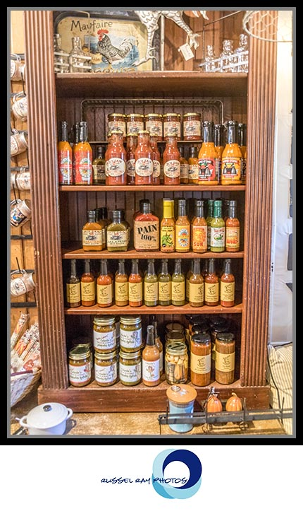 Hot sauces at The Warm Hearth in Julian, California