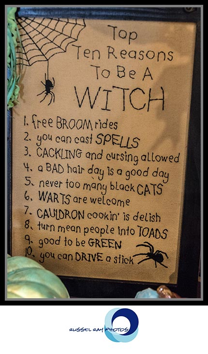 Reasons to be a witch at The Warm Hearth in Julian, California