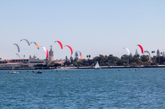 Foil kiteboard racing