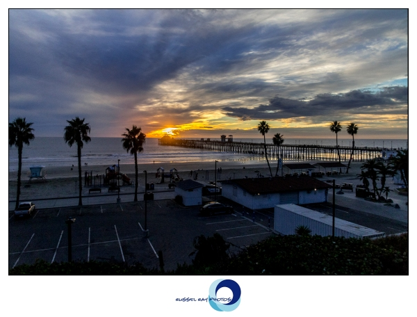 Sunset from the Oceanside pier in Oceanside, California, on November 6, 2017