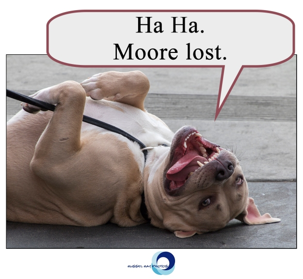 Ha ha. Moore lost.