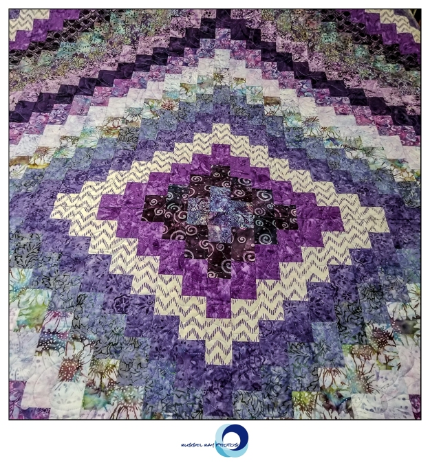 Purple quilt from Quilts & More in Julian, California