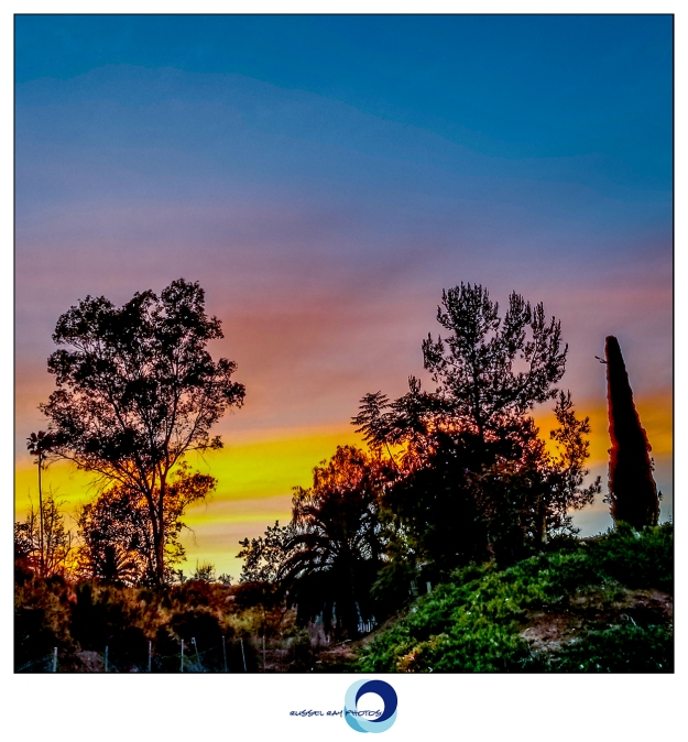 Sunset in El Cajon, California