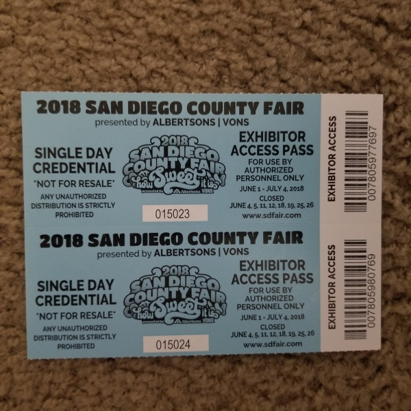 2018 San Diego County Fair tickets, FREE!