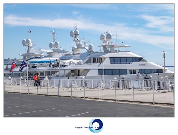 Mega yacht parkingl ot in San Diego