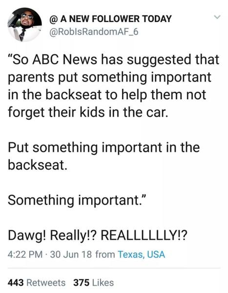 Don't leave your kids in the car!