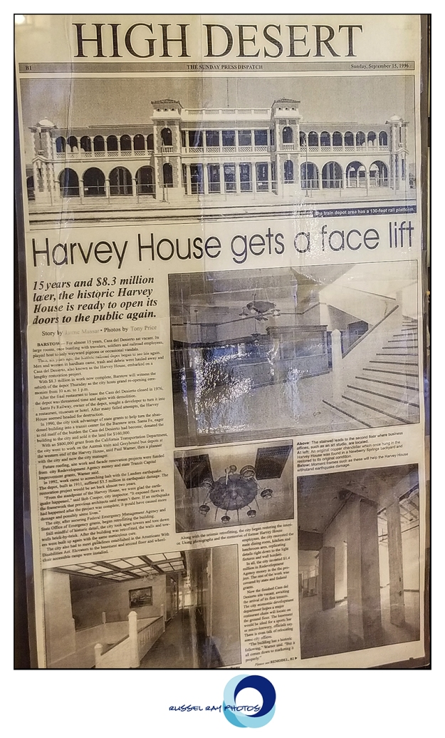 Harvey House history