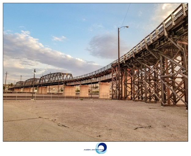 Barstow rail yard bridge