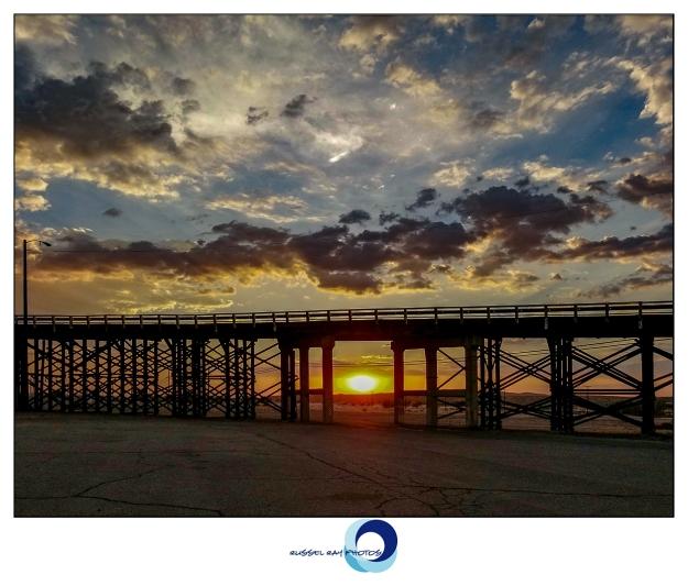 Sunset at the Barstow rail yard