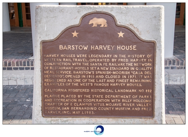 Barstow Harvey House historical marker