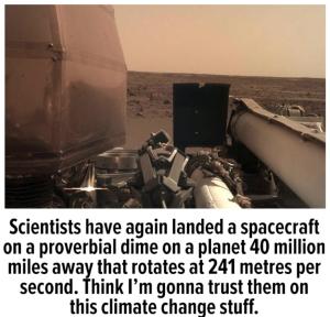 Mars landing meme