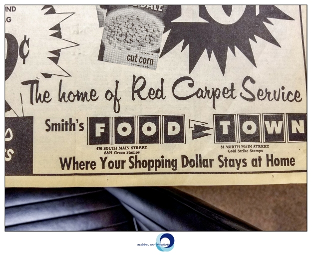 Food Town advertisement in the Box Elder Journal from January 1964, Brigham City, Utah