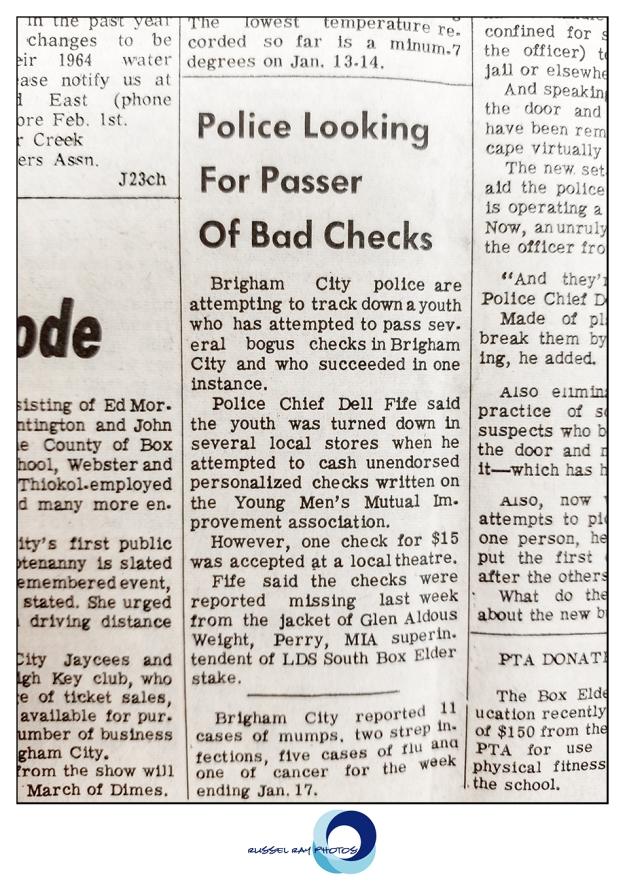 Box Elder Journal newspaper, Brigham City, Utah, January 22, 1964