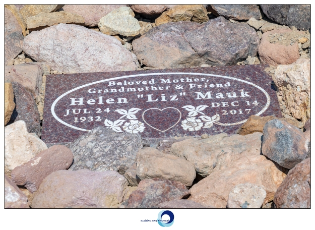 New headstone in the Calico Ghost Town cemetery
