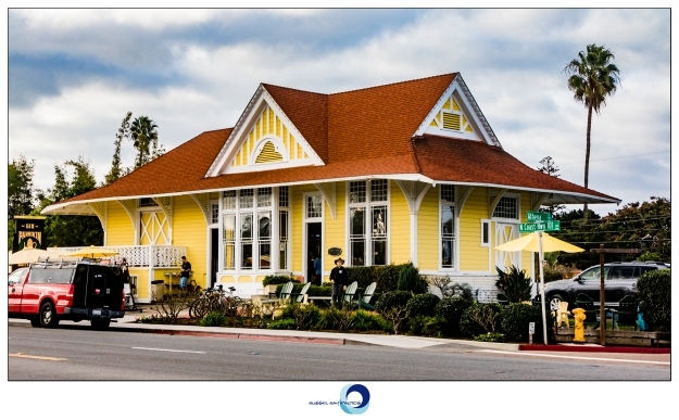 Former ATSF railroad depot in Encinitas, California