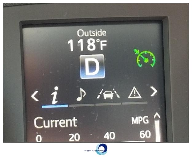 118°F outside