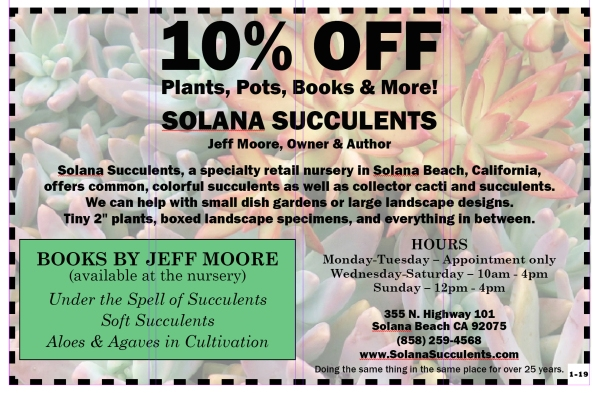 Solana Succulents 10% discount coupon