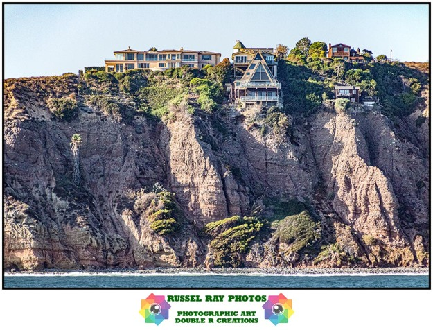 Cliff side homes in Dana Point, California