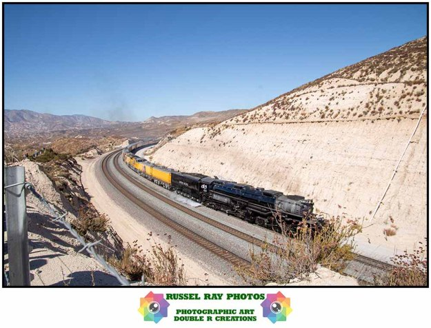 Union Pacific Big Boy 4014 in Cajon Pass on 10/12/19