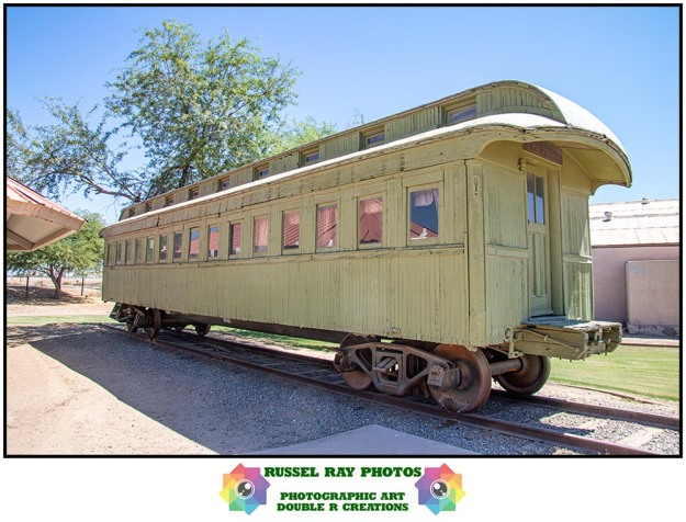 Southern Pacific Railroad wooden passenger coach car