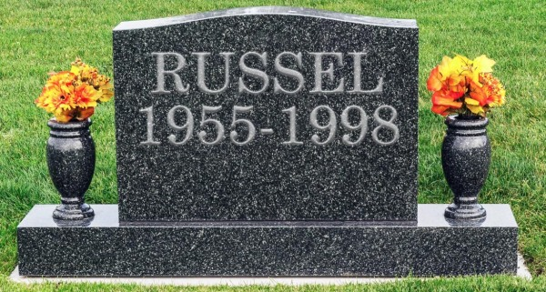 Russel grave headstone